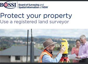 BOSSI use a registered surveyor