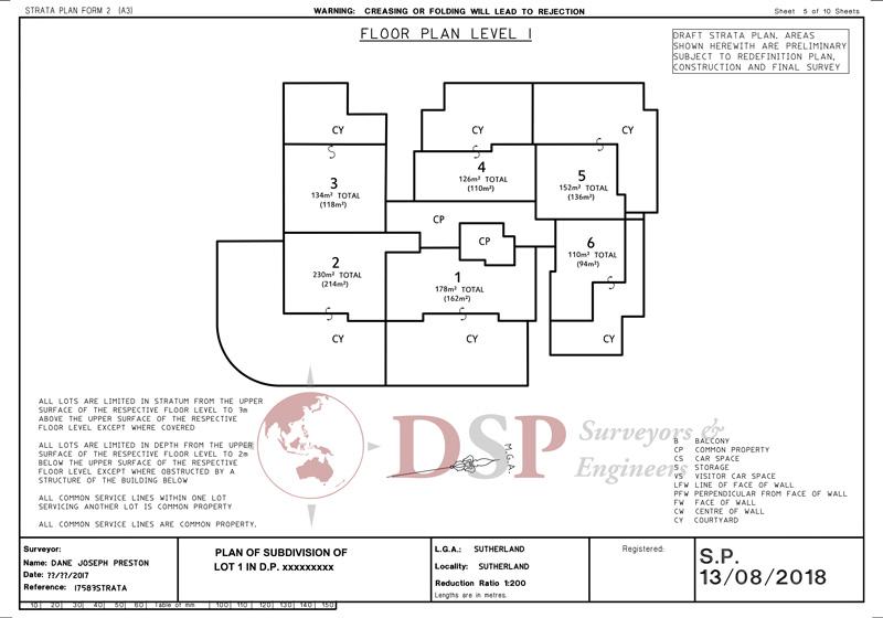 DSP strata plans 2